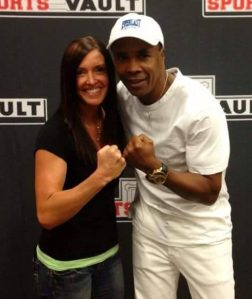 Jen and boxing legend Sugar Ray Leonard