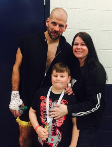 George Maybroda and family USKA Fight Night